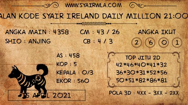 Prediksi Ireland Daily Million 21:00 WIB