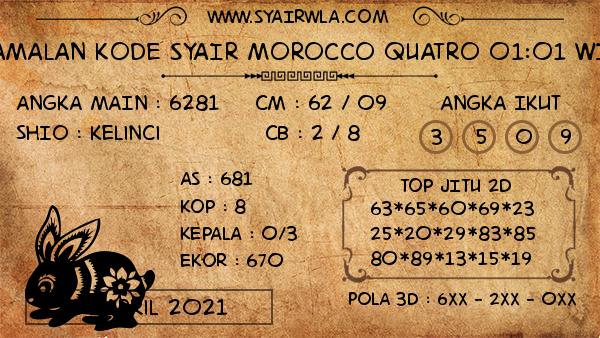 Prediksi Morocco Quatro 01:01 WIB