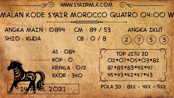 Prediksi Morocco Quatro 04:00 WIB