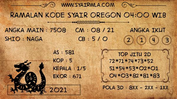 Prediksi Oregon 04:00 WIB