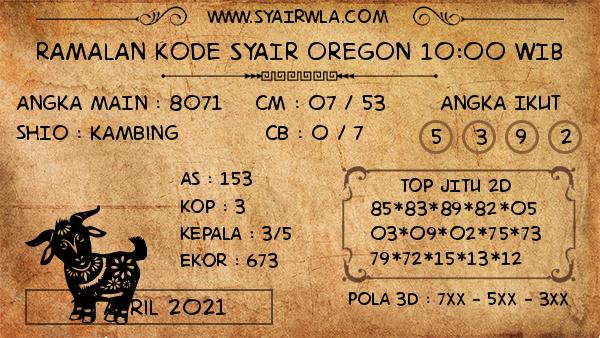 Prediksi Oregon 10:00 WIB