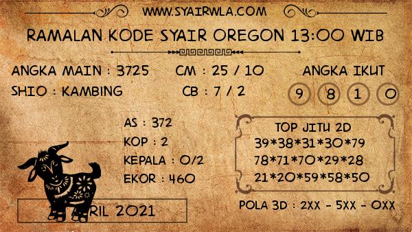 Prediksi Oregon 13:00 WIB