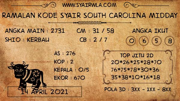 Prediksi South Carolina Midday